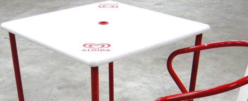 Gees recycling progettazione per conto terzi for Tavoli e sedie algida